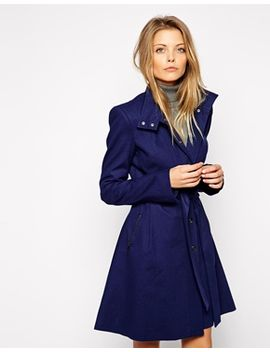 asos-trench-with-funnel-neck-and-popper-detail by asos-collection