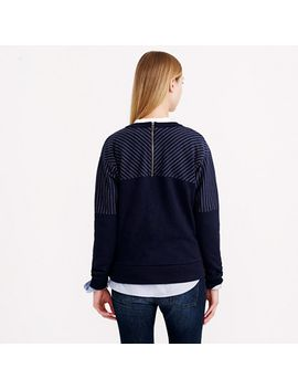 pieced-pinstripe-sweatshirt by jcrew