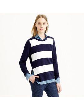 painted-stripe-sweatshirt by jcrew