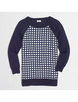factory-woven-panel-sweater by jcrew