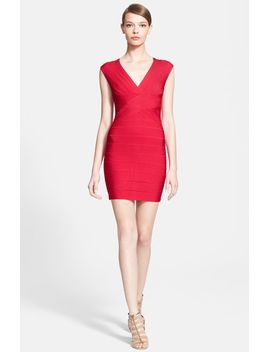 sleeveless-v-neck-bandage-dress by herve-leger