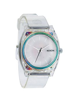 nixon-unisex-the-time-teller-polycarbonate-translucent-strap-watch by nixon