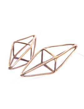 octahedron-earrings-__-oxidized-bronze by mikinora