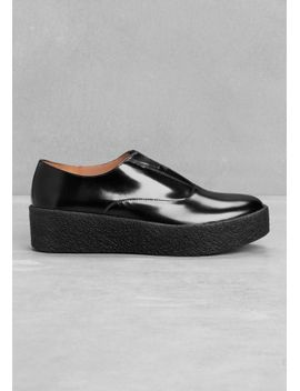 leather-flatforms by &-other-stories