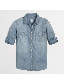 petite-classic-chambray-shirt-in-perfect-fit by jcrew