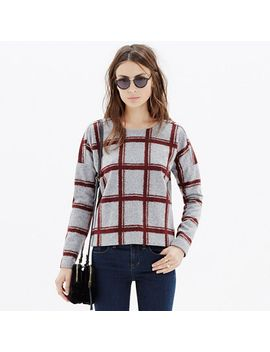 plaid-touchtone-sweatshirt by madewell