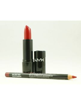 nyx-extra-creamy-round-lipstick-569-snow-white-&-slim-lip-pencil-844-deepred-set by ebay-seller