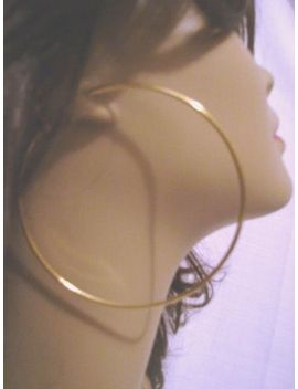 large-3-inch-hoop-earrings-gold-tone-simple-thin-hoops by unbranded