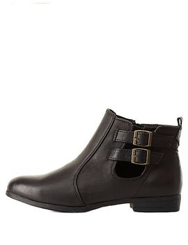 bamboo-belted-chelsea-boots by charlotte-russe