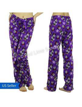women-comfy-disney-minnie-mouse-fleece-purple-pj-room-wear-casual-pants-bottoms by pj