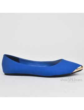 women-comfort-casual-ballet-slip-on-flats-pointed-pointy-toe-metal-tip-shoes by bamboo-(bb),-city-classified-(cc)