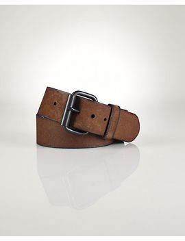 distressed-leather-wide-belt by ralph-lauren