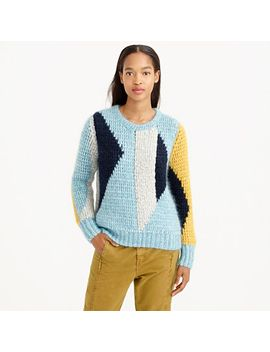 collection-abstract-mohair-sweater by jcrew