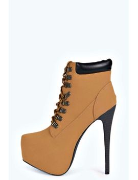 zoe-lace-up-concealed-platform-heeled-boot by boohoo