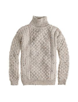 aran-crafts™-fisherman-cable-knit-turtleneck-sweater by jcrew