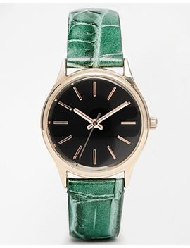 asos-faux-crocodile-textured-watch by asos-collection