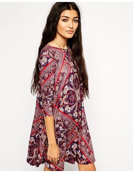asos-swing-dress-in-diamond-paisley-print by asos-collection
