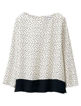 women-idlf-silk-printed-3_4-sleeve-blouse by uniqlo