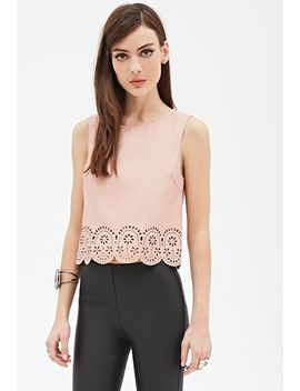 laser-cut-faux-leather-top by forever-21