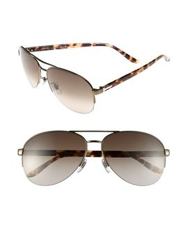 62mm-aviator-sunglasses by gucci