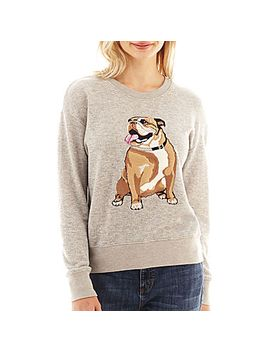 i-'heart'-ronson®-long-sleeve-cadillac-dog-sweatshirt by i-'heart'-ronson