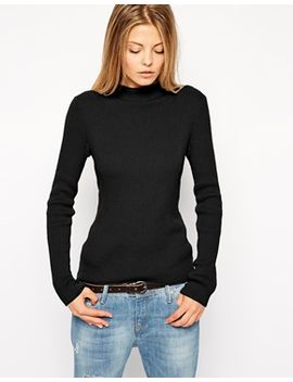 asos-jumper-in-rib-with-turtleneck by asos