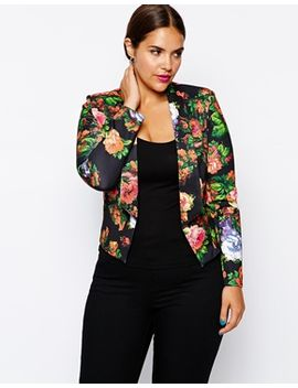 paper-dolls-plus-printed-tailored-blazer by paper-dolls-plus