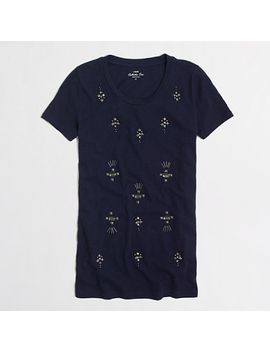 factory-jewel-stud-collector-tee by jcrew