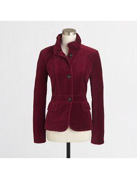 factory-tailored-velvet-blazer by jcrew