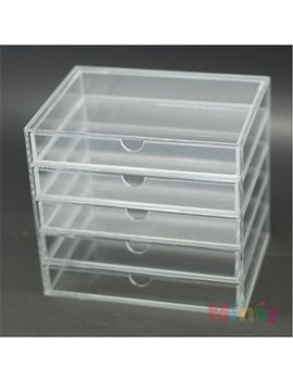 free-shipping--rectangle-5-lattices-clear-acrylic-storage-box-or-makeup-organizer-175cm-x-13cm-x-16cm by ali-express