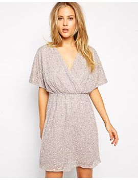 asos-sequin-kimono-dress by asos-collection