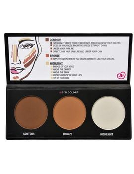 city-color-contour-effects-palette-highlight-and-contour-pressed-powder-makeup by ebay-seller