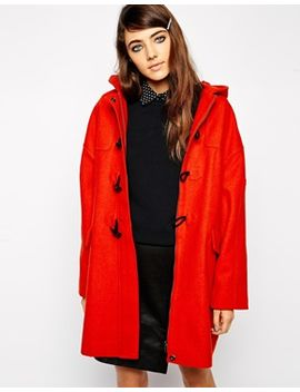 asos-duffle-coat-in-cocoon-fit by asos-collection