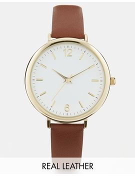 asos-premium-leather-watch by asos-collection