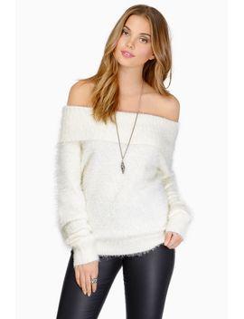 wishful-thinking-black-furry-fuzzy-sweater by tobi