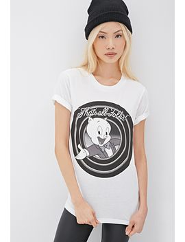 porky-pig-graphic-tee by forever-21