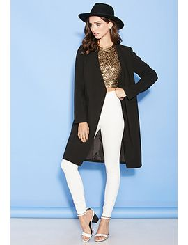 collarless-crossover-coat by forever-21