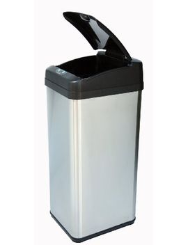 itouchless-13-gallon-square-stainless-steel-extra-wide-opening-touchless-trash-can-mx by itouchless