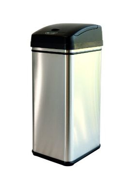 itouchless-13-gallon-stainless-steel-automatic-trash-can-with-odor-control-system,-big-lid-opening-sensor-touchless-kitchen-trash-bin-(base-version---no-ac-adapter) by itouchless