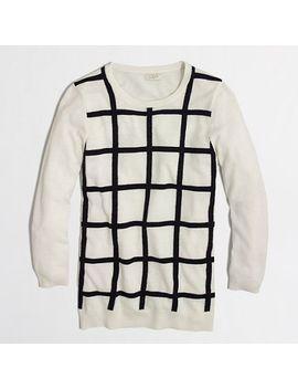 factory-windowpane-shimmer-sweater by jcrew