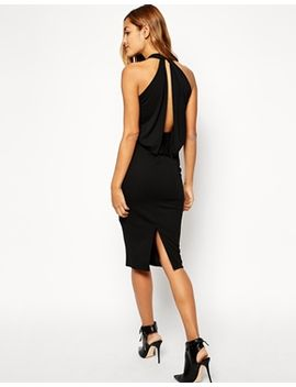 asos-crepe-cowl-midi-dress by asos-collection