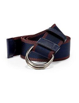 bicolor-webbed-d-ring-belt by prada