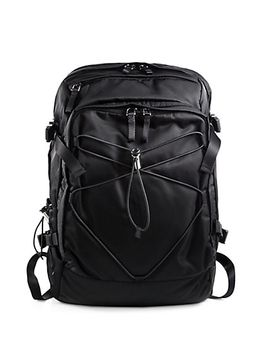 nylon-and-leather-backpack by prada
