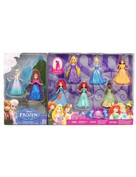 8-pc-doll-gift-set:-375-disney-princess,-featuring-anna-and-elsa-from-frozen by mattel