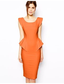 asos-pencil-dress-with-structured-peplum by asos-collection