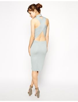 asos-dress-in-structured-knit-with-cross-back-detail by asos-collection