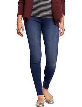 womens-pull-on-indigo-jeggings by old-navy