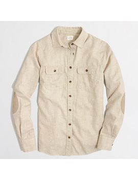 factory-classic-button-down-elbow-patch-shirt-in-flannel by jcrew