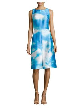 cloud-print-shantung-dress by michael-kors