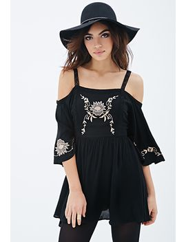 embroidered-peasant-dress by forever-21